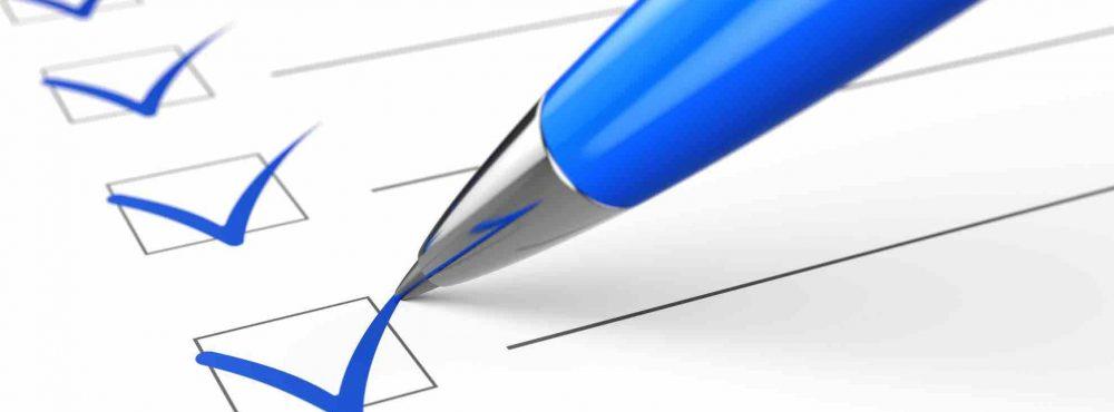 Checkliste Häkchen Kugelschreiber